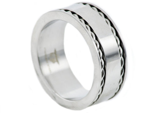 Mens Stainless Steel Band - Blackjack Jewelry