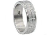 Mens Sand Blasted Stainless Steel Band