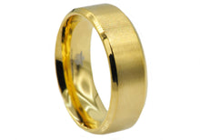 Load image into Gallery viewer, Mens Gold Plated Stainless Steel Band - Blackjack Jewelry