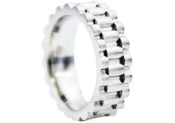 Mens Stainless Steel Band Ring