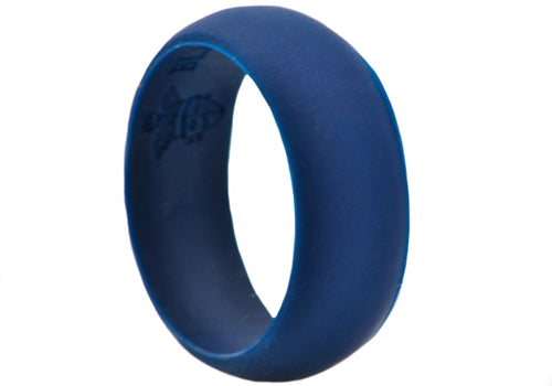 Mens Sports Navy Silicone Band - Blackjack Jewelry