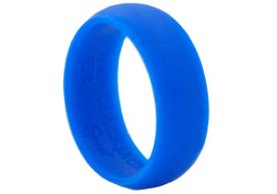 Mens Sports Blue Silicone Band