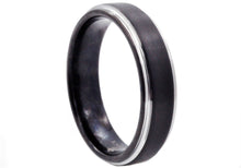 Load image into Gallery viewer, Mens Black Plated Tungsten Band Ring - Blackjack Jewelry