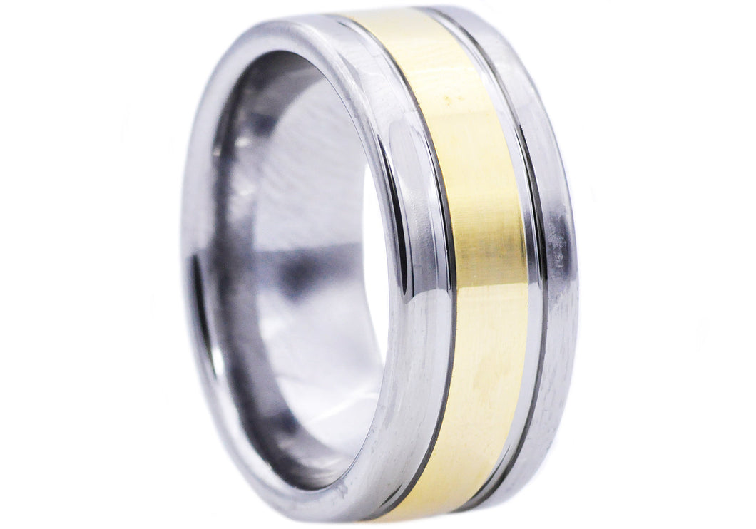 Mens Gold Tungsten Band Ring - Blackjack Jewelry