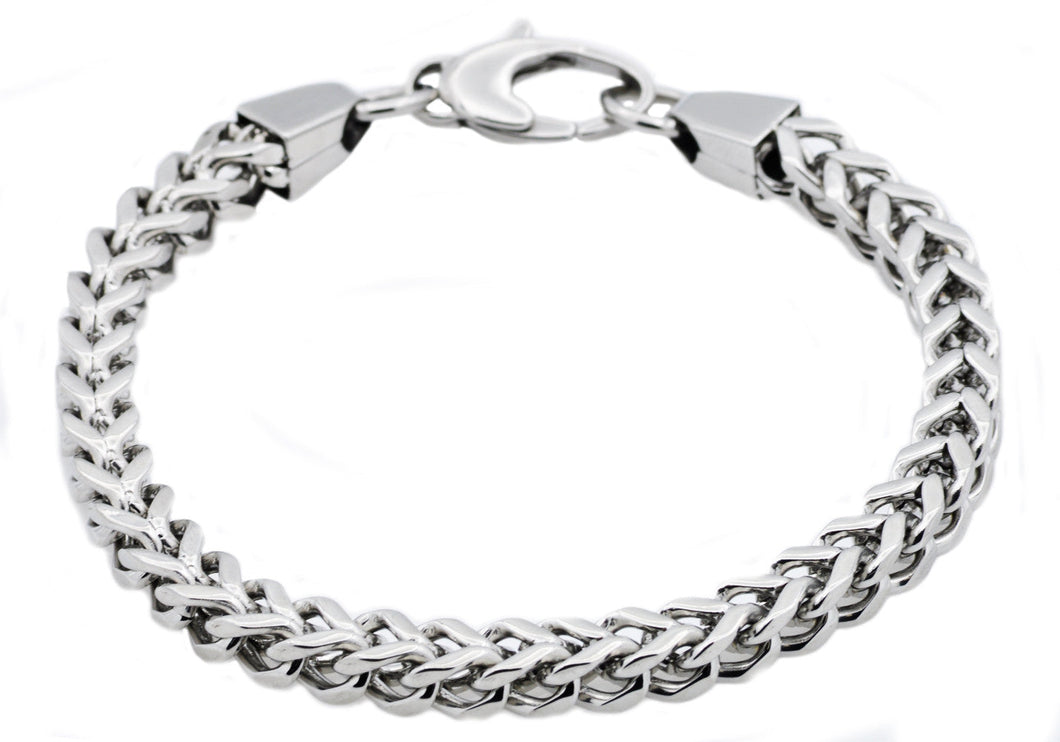 Mens Stainless Steel Franco Link Chain Bracelet - Blackjack Jewelry