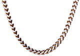 Mens Gold Plated Stainless Steel Franco Link Chain Necklace