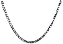 Load image into Gallery viewer, Mens 4mm Stainless Steel Franco Link Chain Necklace - Blackjack Jewelry