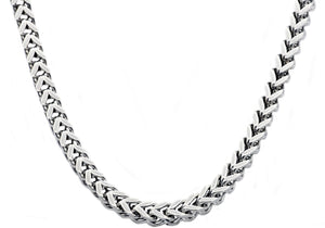 Mens 8mm Stainless Steel Franco Link Chain Necklace - Blackjack Jewelry