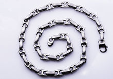 Load image into Gallery viewer, Mens Stainless Steel Anchor Link Chain Necklace - Blackjack Jewelry