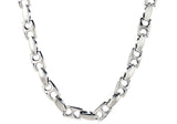 Mens Stainless Steel Anchor Link Chain Necklace