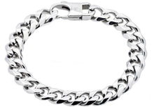 Load image into Gallery viewer, Mens Stainless Steel Curb Link Chain Bracelet - Blackjack Jewelry