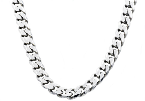 Mens 10mm  Stainless Steel Curb Link Chain Necklace - Blackjack Jewelry