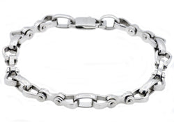 Mens Stainless Steel Bicycle Link Chain Bracelet
