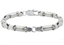 Load image into Gallery viewer, Mens Stainless Steel Barrel Link Chain bracelet - Blackjack Jewelry