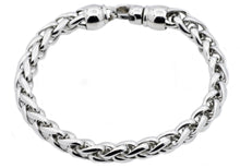 Load image into Gallery viewer, Mens Stainless Steel Wheat Link Chain Bracelet - Blackjack Jewelry