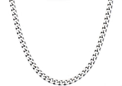 Mens Stainless Steel Curb Link Chain Necklace