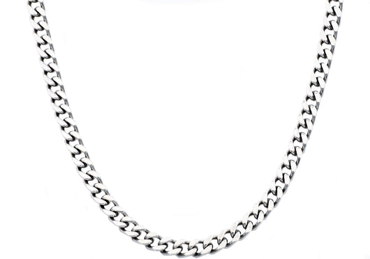 Mens Stainless Steel Curb Link Chain Necklace - Blackjack Jewelry