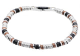 Mens Chocolate And Black Plated Stainless Steel Chain Bracelet