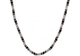 Mens Chocolate And Black Plated Stainless Steel Link Chain Necklace