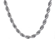 Load image into Gallery viewer, Mens Stainless Steel Rope Chain Necklace - Blackjack Jewelry