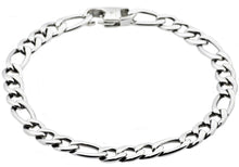Load image into Gallery viewer, Mens Stainless Steel Figaro Link Chain Bracelet - Blackjack Jewelry