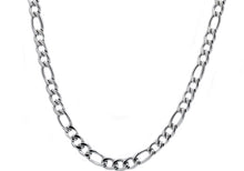 Load image into Gallery viewer, Mens Stainless Steel Figaro Link Chain Necklace - Blackjack Jewelry