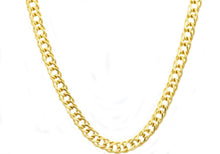 Load image into Gallery viewer, Mens Gold Plated Stainless Steel Double Link Chain Necklace - Blackjack Jewelry