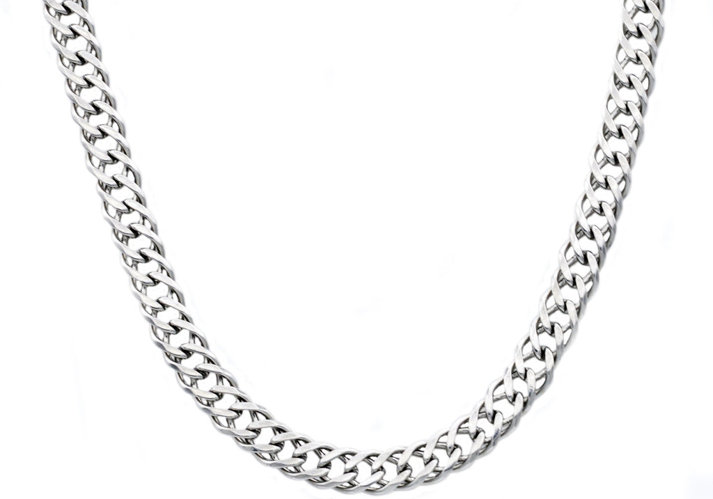 Mens Stainless Steel Double Cuban Link Chain Bracelet