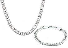 Load image into Gallery viewer, Mens Stainless Steel Double Link Chain Set - Blackjack Jewelry