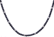 Load image into Gallery viewer, Mens Genuine Hematite Stainless Steel Beaded Necklace - Blackjack Jewelry