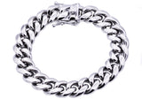 Mens Stainless Steel Cuban Link Chain Bracelet