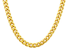 Load image into Gallery viewer, Mens 10mm Gold Stainless Steel Cuban Link Chain Necklace With Box Clasp - Blackjack Jewelry