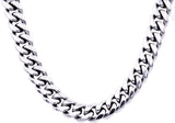 Mens Stainless Steel Cuban Link Chain Necklace