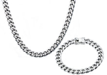 Load image into Gallery viewer, Mens 10mm  Stainless Steel Cuban Link Chain With Box Claps Set - Blackjack Jewelry