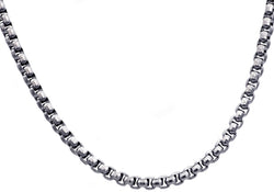 Mens Stainless Steel Rolo Link Chain Necklace
