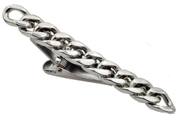 Mens Stainless Steel Chain Tie Clip