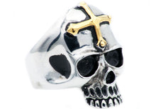 Load image into Gallery viewer, Mens Stainless Steel Skull Ring - Blackjack Jewelry