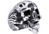 Mens Stainless Steel Skull Ring