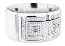 Load image into Gallery viewer, Mens Stainless Steel Ring With Cubic Zirconia - Blackjack Jewelry