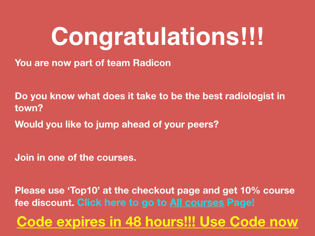 Radiology courses, CT course, MRI course, Ultrasound course