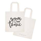 Gym and Tonic Cotton Canvas Tote Bag - The Cotton and Canvas Co.