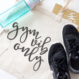 Gym Vibes Only Cotton Canvas Tote Bag - The Cotton and Canvas Co.