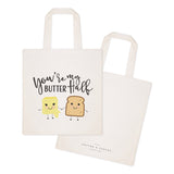 You're My Butter Half Cotton Canvas Tote Bag - The Cotton and Canvas Co.