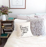 Home is Wherever I'm With You Pillow Cover - The Cotton and Canvas Co.