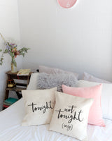 Tonight and Not Tonight Pillow Covers, 2-Pack - The Cotton and Canvas Co.