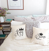 King and Queen Tonight Pillow Covers, 2-Pack - The Cotton and Canvas Co.