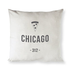 Chicago Cotton Canvas Pillow Cover - The Cotton and Canvas Co.