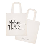 Matron of Honor Wedding Cotton Canvas Tote Bag - The Cotton and Canvas Co.