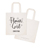 Flower Girl Personalized Wedding Cotton Canvas Tote Bag - The Cotton and Canvas Co.