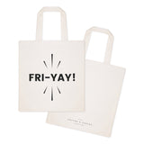 Friyay Weekend Cotton Canvas Tote Bag - The Cotton and Canvas Co.